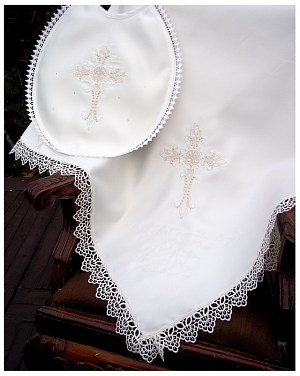 Baptism Shawl with Fancy Cross