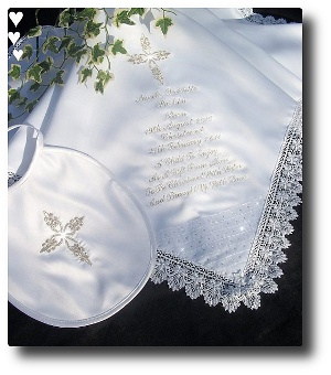 Baptism shawl with Princess Cross