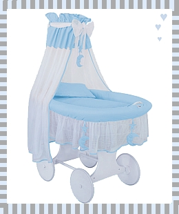 baby Crib Cradle (Silent Night) in blue