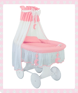 Crib Cradle (Silent Night) in pink
