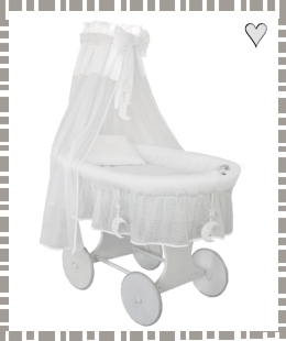 Crib Cradle (Silent night) in white