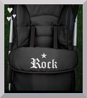 Footmuff cosytoes rock star black