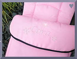 Universal Footmuff with Snowflakes and Rhinestones Design on I'c