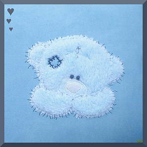 Baby or Toddler Tatty Teddy design for Personalised Footmuff/Cos