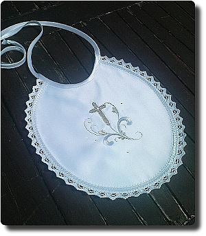 Baby Bid Personalized with Cross and scroll design No1