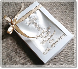 Gift boxed Personalised Christening bib