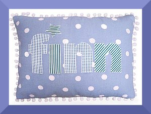Personalised child cushion with name