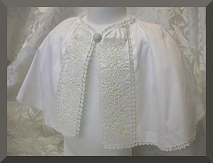 Baptism Christening Silk Cape