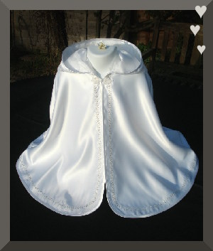 Christening/Baptism cape with hood