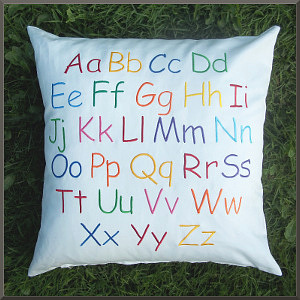 English Alphabet Cushion