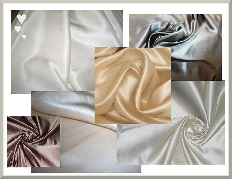 Bridal Duchess silk fabric