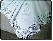 White Warm Baptism blanket.