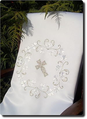 Irish Shamrock Design Baptism Blanket
