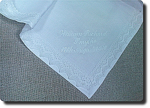 Traditional Christening linen blanket