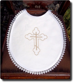 Linen bib with Orthodox cross