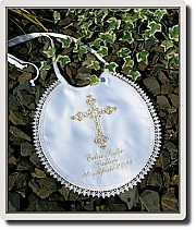 Baptism Bib with cross design