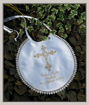 Personalized Baptism Bib