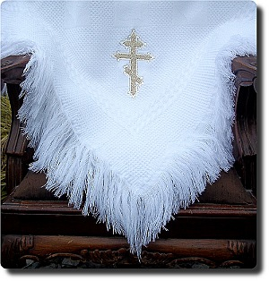 Traditional Orthodox Cross child's blanket